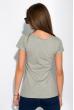 Женская футболка из хлопка 434V004-5 серый меланж