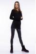 Свитер женский удлиненный  610F004 черный