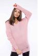 Свитер женский удлиненный  610F004 бледно-розовый