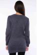 Свитер женский удлиненный  610F004 темно-серый