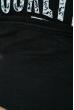 Джемпер с принтом 11P232 на флисе черный