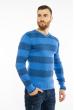 Пуловер в крупную полоску 619F1875 голубой / сизый
