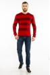 Пуловер в крупную полоску 619F1875 красно-черный