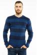 Пуловер в крупную полоску 619F1875 сине-чернильный