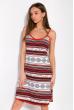Ночная рубашка женская 107P02722 бело-красный