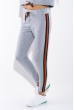 Костюм спортивный с  полосками на груди 78PD5068 серый меланж