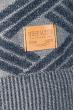 Свитер мужской с узором ромб 169V001 сизо-серый