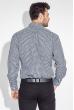 Рубашка мужская двухцветная клетка 50PD2113-1 черно-белый