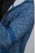 Кардиган с капюшоном мужской 46F093-2 синий меланж