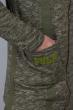 Кардиган с капюшоном мужской 46F093-2 оливковый меланж