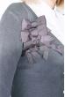 Кофта женская с бантиками на груди 81PD815 молочный