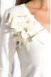 Кофта женская с бантиками на груди 81PD815 черный