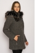 Пальто женское 130P004 серый