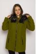 Пальто женское 130P004 болотный