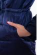 Куртка женская с перьевой отделкой 120PSKL2205 темно-синий