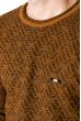 Джемпер с крупным вырезом 520F002 светло-коричневый / черный