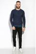 Джемпер с крупным вырезом 520F002 джинс / темно-синий