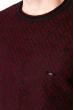 Джемпер с крупным вырезом 520F002 темно-сине-бордовый