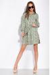 Платье с нежным цветочным принтом 103P492-1 светло-оливковый / принт