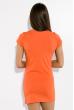 Туника женская с принтом  81P1683 оранжевый