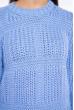 Свитер вязка квадратами 120PNA19304 голубой