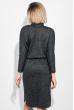Платье женское с боковым разрезом 72PD209 черный меланж
