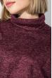 Платье женское с боковым разрезом 72PD209 марсала меланж