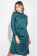 Платье женское с боковым разрезом 72PD209 зеленый меланж