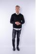 Пуловер 645F002 черный