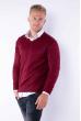 Пуловер 645F002 бордо