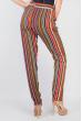 Брюки женские летние, тонкие №297F001 коричнево-красный