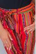 Брюки женские летние, тонкие №297F001 красно-оранжевый