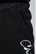 Костюм мужской спорт однотонный с вертикальным принтом 70PD5012 черный