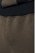 Костюм мужской спорт однотонный с вертикальным принтом 70PD5012 хаки-черный