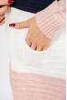 Кардиган женский  в полоску 85F036 розово-чернильный