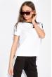 Костюм женский спортивный с короткими рукавами 151P121 бело-черный