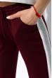 Костюм женский спортивный с короткими рукавами 151P121 бело-бордовый