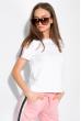 Костюм женский спортивный с короткими рукавами 151P121 бело-розовый