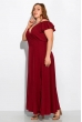 Длинное однотонное платье 120PVC1045 вишневый