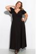 Длинное однотонное платье 120PVC1045 черный