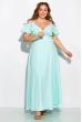 Длинное однотонное платье 120PVC1045 светло-бирюзовый