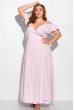 Длинное однотонное платье 120PVC1045 светло-сиреневый