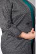 Кардиган женский без застежки 120PUR098/1 серый меланж