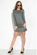 Платье 110P582 серый