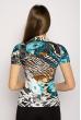 Блуза женская с цветным принтом 108P024-2 цветной принт