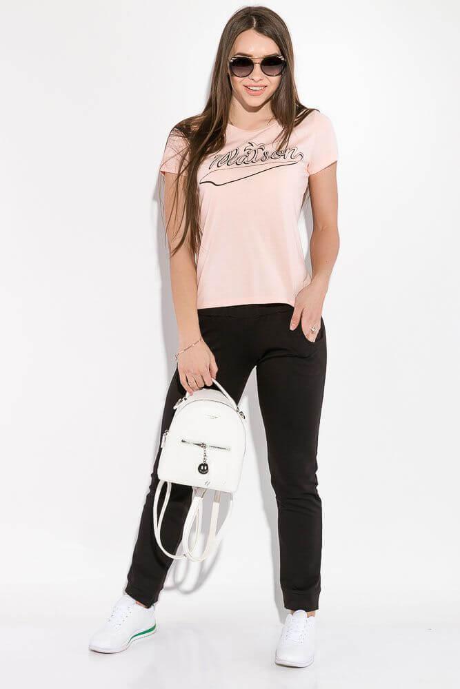 Женская футболка 99 грн. персиковая
