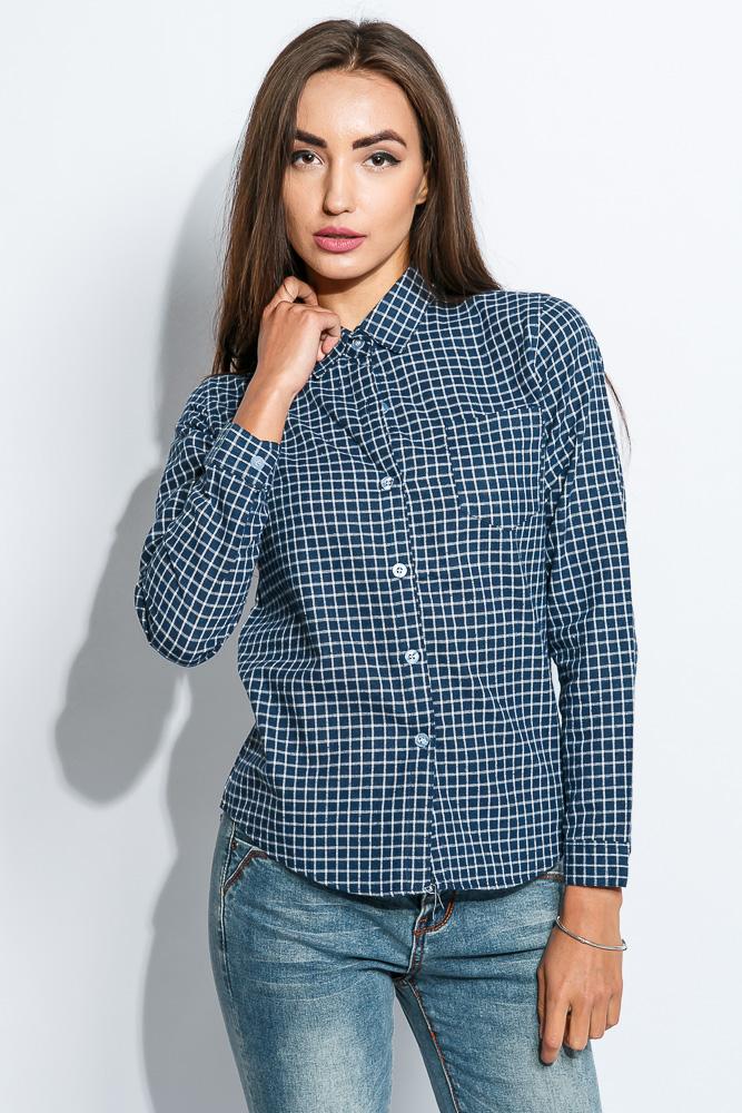 Купить Рубашка женская короткая 965K001, Time of Style, Красный, Оливковый, Голубой, Синий, Темно-синий
