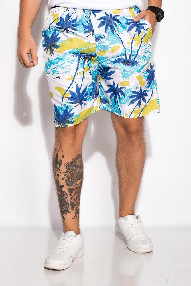 Купить Мужские шорты, Шорты 452V005-24, Time of Style, Бело-оливковый, Бело-салатовый