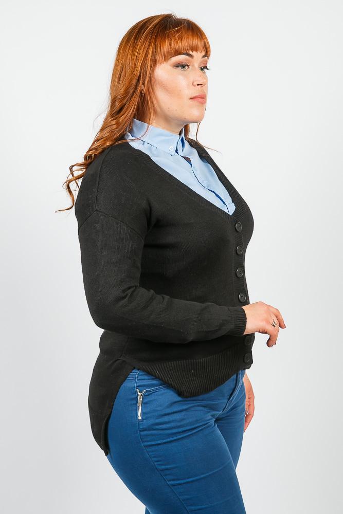 Купить Кардиган женский мягкий, на пуговицах 816K012, Time of Style, Серо-молочный
