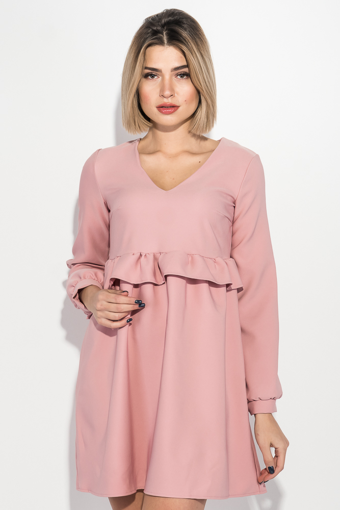 Купить Платье женское свободного покроя 72PD149, Time of Style, Белый, Бутылочный, Красный, Пудровый, Черный